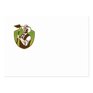 Escudo orgánico de la azada del gancho agarrador tarjetas personales