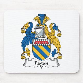Escudo pagano de la familia mouse pads