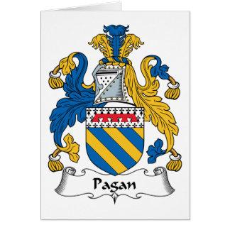 Escudo pagano de la familia tarjeta de felicitación