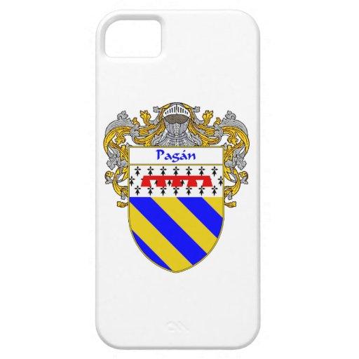 Escudo pagano del escudo de armas/de la familia iPhone 5 fundas