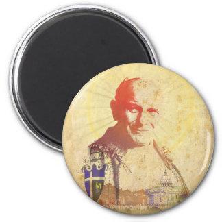 Escudo papal de Juan Pablo II Imán Redondo 5 Cm
