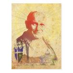 Escudo papal de Juan Pablo II Postal
