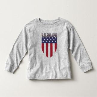 Escudo patriótico de la bandera americana de los polera