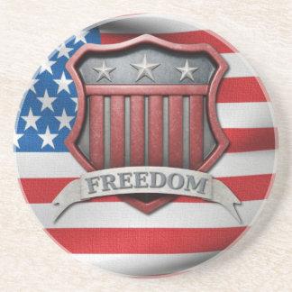 Escudo patriótico de los E.E.U.U. Posavasos Diseño