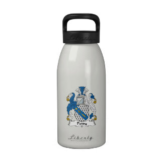 Escudo pequeño de la familia botellas de agua reutilizables