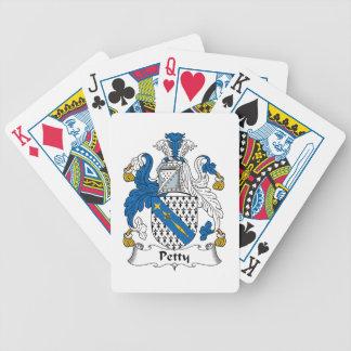Escudo pequeño de la familia baraja cartas de poker