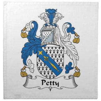 Escudo pequeño de la familia servilletas