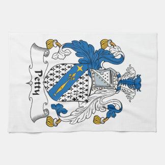 Escudo pequeño de la familia toallas de mano