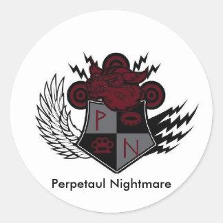 escudo perpetuo 2, pesadilla de la pesadilla de pegatina redonda