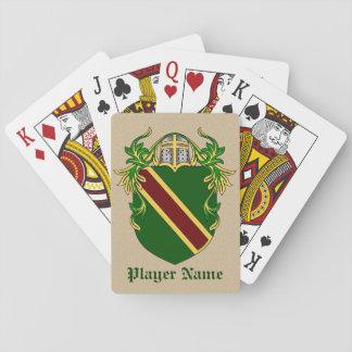 Escudo personalizado jugadores del juego cartas de póquer