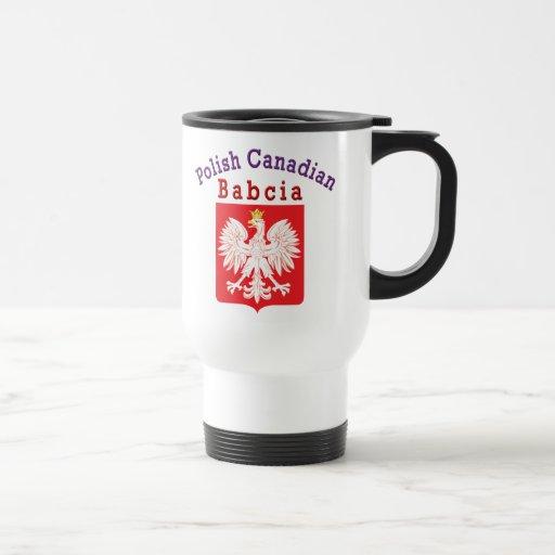 Escudo polaco Babcia de Eagle del canadiense Taza Térmica
