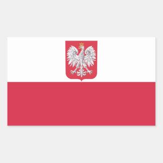 Escudo polaco de Polonia Eagle Pegatina Rectangular