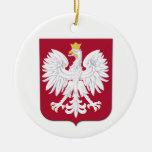 Escudo polaco del rojo de Eagle Adorno De Reyes