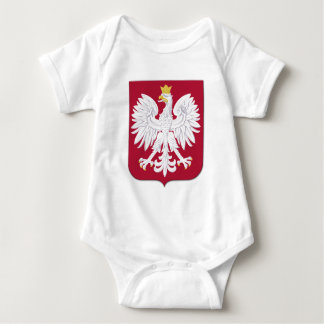 Escudo polaco del rojo de Eagle Body Para Bebé