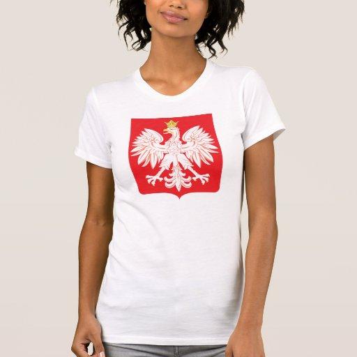 Escudo polaco del rojo de Eagle Playera