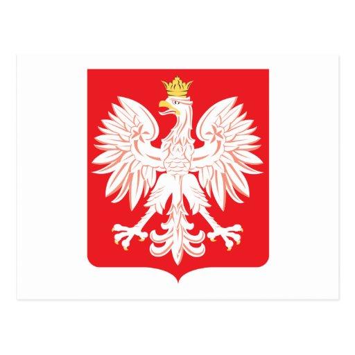 Escudo polaco del rojo de Eagle Postal