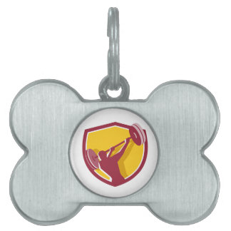 Escudo posterior de balanceo del Barbell del Placas De Mascota