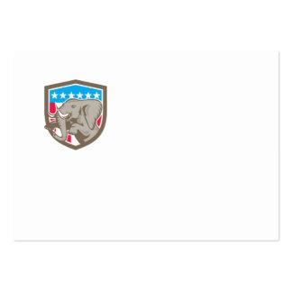 Escudo Prancing de las estrellas del elefante Tarjetas De Visita Grandes
