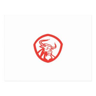 Escudo principal de Bull del fonolocalizador de bo Postal