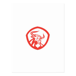 Escudo principal de Bull del fonolocalizador de bo Postales