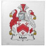 Escudo principal de la familia servilleta de papel