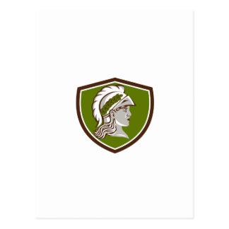 Escudo principal de Minerva retro Tarjetas Postales