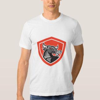 Escudo principal enojado de Bull retro Camisas