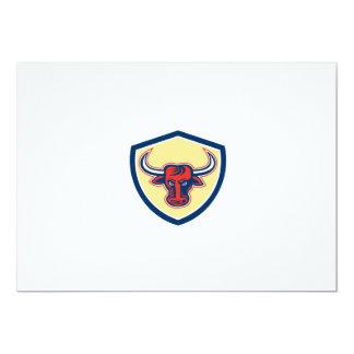 Escudo principal enojado de Bull retro Comunicados Personalizados
