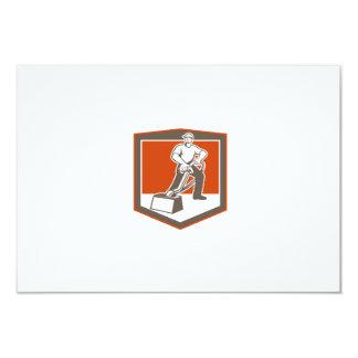 Escudo que limpia con la aspiradora del limpiador invitación 8,9 x 12,7 cm