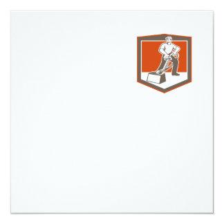 Escudo que limpia con la aspiradora del limpiador invitación 13,3 cm x 13,3cm