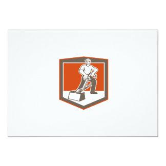 Escudo que limpia con la aspiradora del limpiador invitación 12,7 x 17,8 cm
