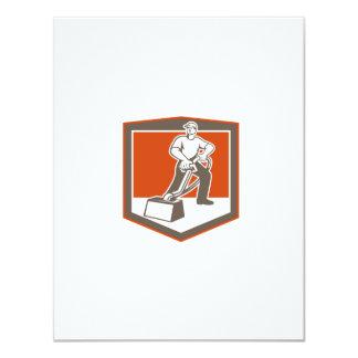 Escudo que limpia con la aspiradora del limpiador invitación 10,8 x 13,9 cm