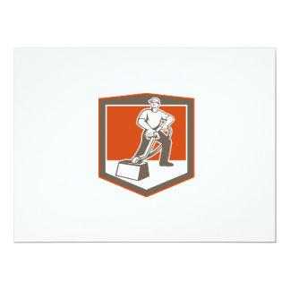Escudo que limpia con la aspiradora del limpiador invitación 16,5 x 22,2 cm
