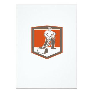 Escudo que limpia con la aspiradora del limpiador invitación 11,4 x 15,8 cm