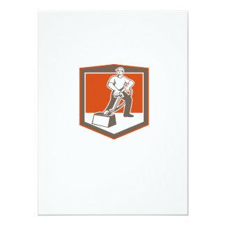 Escudo que limpia con la aspiradora del limpiador invitación 13,9 x 19,0 cm