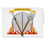 Escudo real de la parrilla del Bbq Felicitaciones