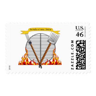 Escudo real de la parrilla del Bbq