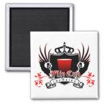escudo real del campeón de la taza del tirón iman para frigorífico