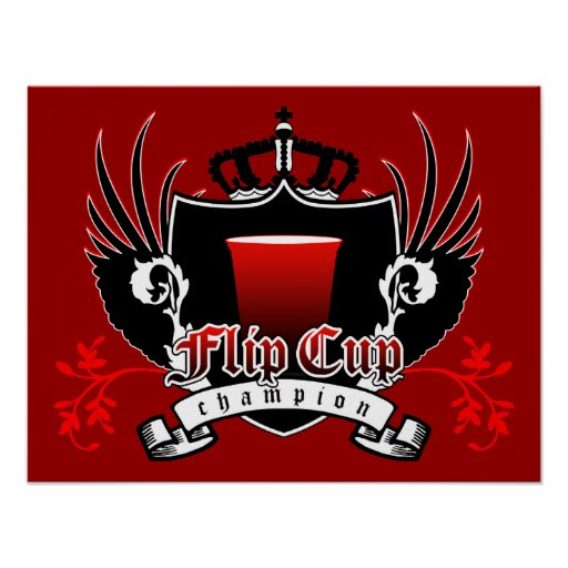 escudo real del campeón de la taza del tirón posters