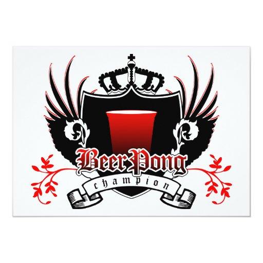 escudo real del campeón del pong de la cerveza comunicados personales