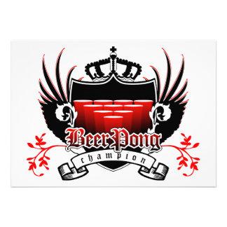 escudo real del campeón del pong de la cerveza