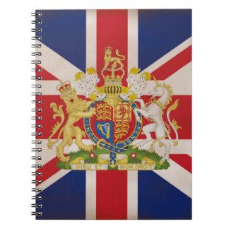 Escudo real en la unión gato note book