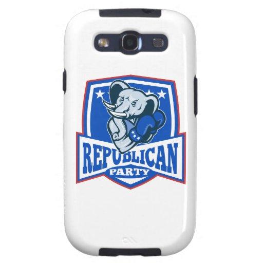 Escudo republicano del boxeador de la mascota del galaxy SIII coberturas