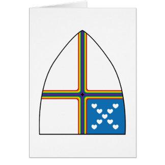 escudo revisado tarjeta de felicitación