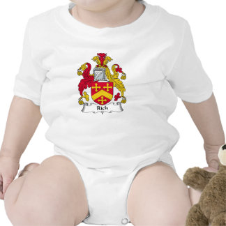 Escudo rico de la familia camisetas