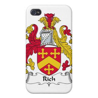 Escudo rico de la familia iPhone 4/4S carcasa