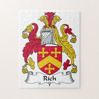 Escudo rico de la familia rompecabezas