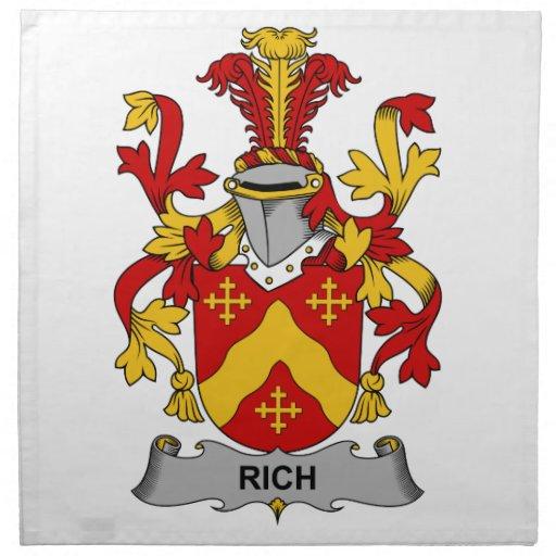 Escudo rico de la familia servilleta de papel