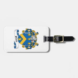 Escudo rígido de la familia etiqueta para maleta