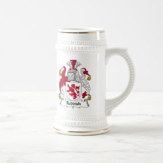 Escudo rojizo de la familia jarra de cerveza